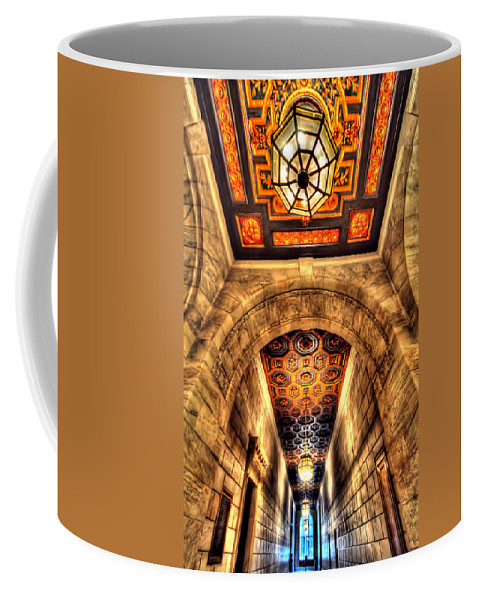 Architecture Coffee Mug featuring the photograph The Hallway by Tina Baxter