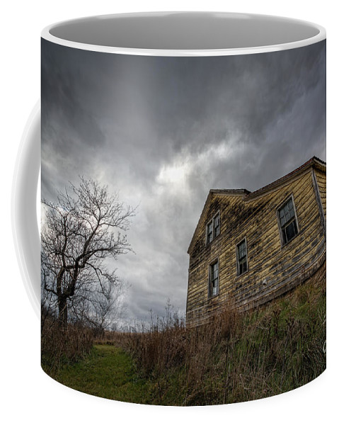 Landscape Coffee Mug featuring the photograph The Haunted Color by Michael Ver Sprill