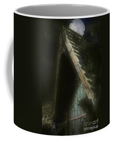House Coffee Mug featuring the painting The Haunted Gable by RC DeWinter