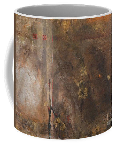Abstact Coffee Mug featuring the painting The Heart Is A Lonely Hunter by Frances Marino