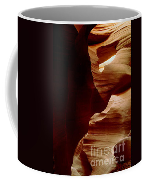 Landscape Coffee Mug featuring the photograph The Heart Of Antelope Canyon by Kathy McClure