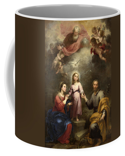 Bartolome Esteban Murillo Coffee Mug featuring the painting The Heavenly And Earthly Trinities by Bartolome Esteban Murillo