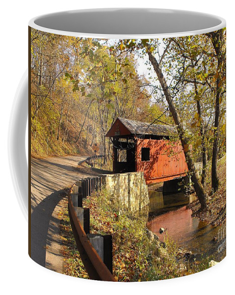 Covered Bridge Coffee Mug featuring the photograph The Henry Bridge 1 by Spencer McKain