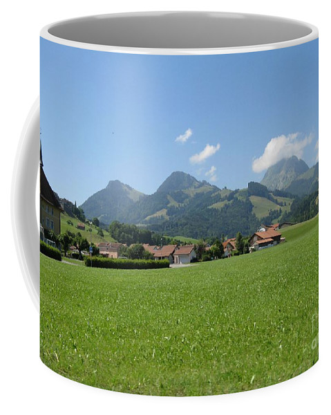 Switzerland Coffee Mug featuring the photograph The Hills Are Alive by Arlene Carmel