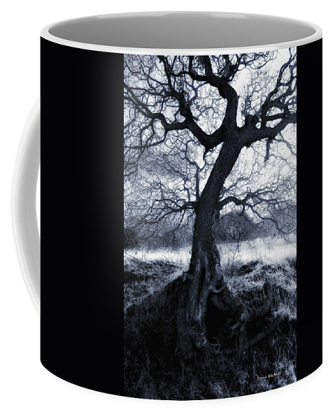 Spook Coffee Mug featuring the photograph The Horseman Rides Tonight by Donna Blackhall