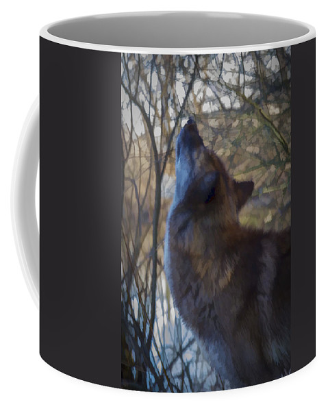 Animal Coffee Mug featuring the photograph The Howl by Jack R Perry