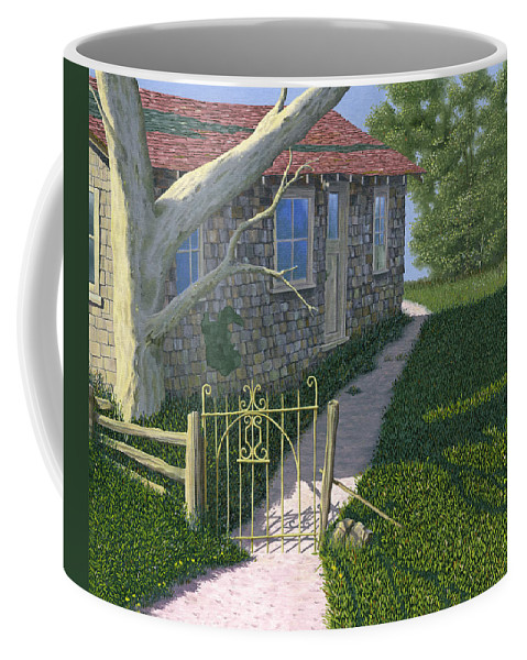 Old Farm Coffee Mug featuring the painting The Iron Gate by Gary Giacomelli