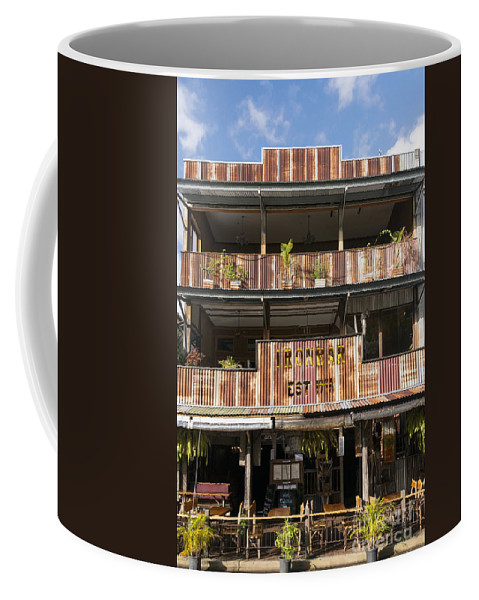 Poor Douglas Australia Ironbar Restaurant Restaurants Bar Bars Building Buildings Structure Structures Architecture City Cities Cityscape Cityscapes Coffee Mug featuring the photograph The Ironbar by Bob Phillips