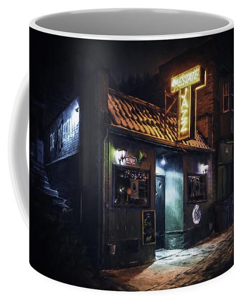 Jazz Estate Coffee Mug featuring the photograph The Jazz Estate Nightclub by Scott Norris