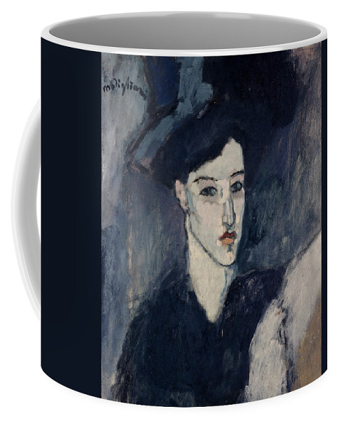 Modigliani Coffee Mug featuring the painting The Jewess by Amedeo Modigliani