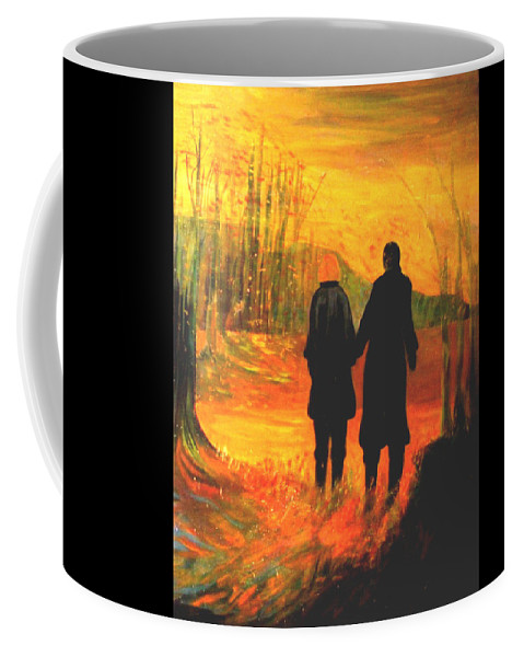 Partners Coffee Mug featuring the painting The Journey by Carolyn LeGrand