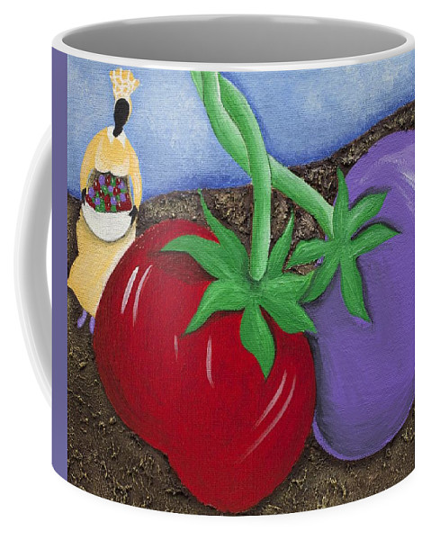 Sabree Coffee Mug featuring the painting The Journey South by Patricia Sabree