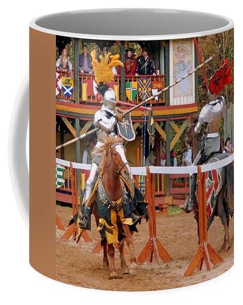 Fine Art Coffee Mug featuring the photograph The Jousters 3 by Rodney Lee Williams