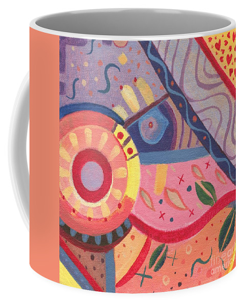 Abstract Coffee Mug featuring the painting The Joy Of Design X V I I I by Helena Tiainen
