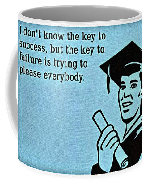 Key To Success Coffee Mug featuring the painting The Key To Success by Florian Rodarte