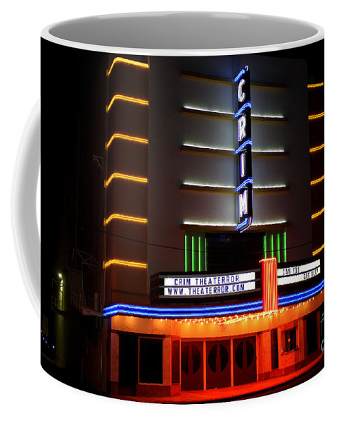 Crim Theater Coffee Mug featuring the photograph The Kilgore Crim Theater by Kathy White