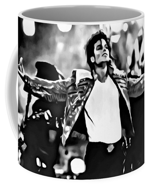 Celebrities Coffee Mug featuring the painting The King of Pop by Florian Rodarte