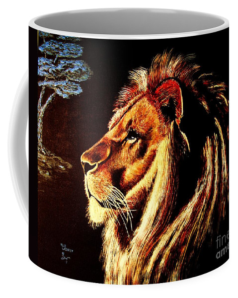 Figurative Coffee Mug featuring the painting the King by Viktor Lazarev