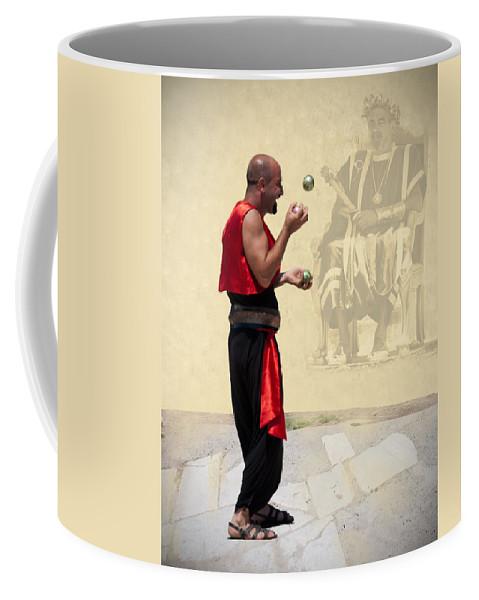 The King's Jester Coffee Mug featuring the digital art The King's Jester by Phyllis Taylor
