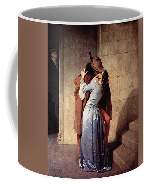 Art Errors Coffee Mug featuring the digital art The Kiss 1859 by Francesco Hayez