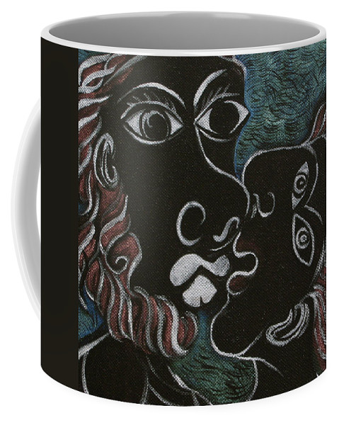 Original Coffee Mug featuring the painting The Kiss by Sue Wright