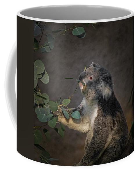 Animals Coffee Mug featuring the digital art The Koala by Ernie Echols