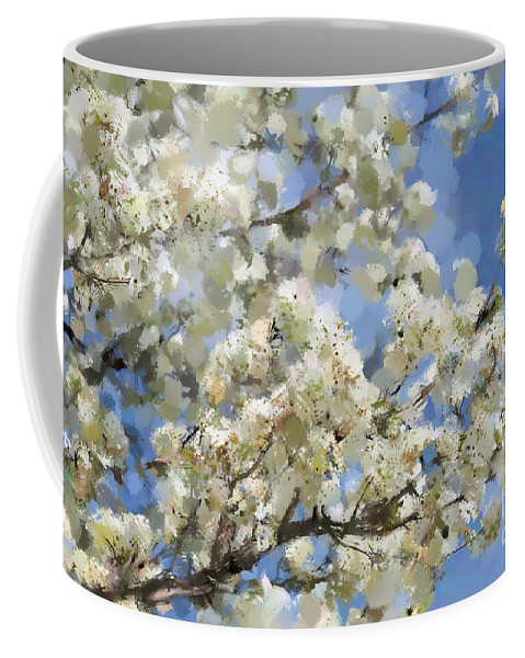 Tree Coffee Mug featuring the photograph The Language Of Spring by Betty LaRue