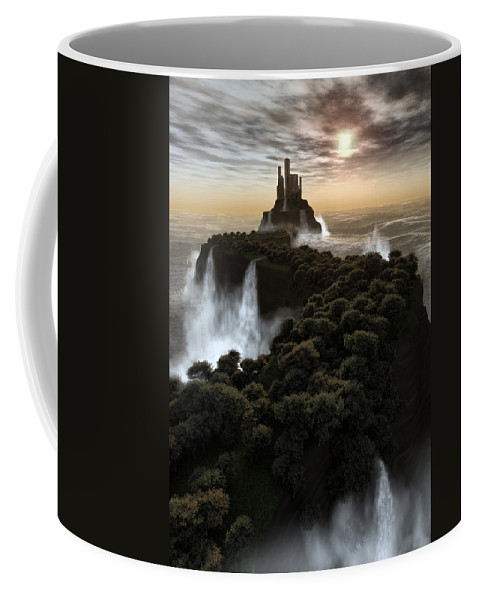 Fantasy Coffee Mug featuring the digital art The Last Colony by Richard Rizzo