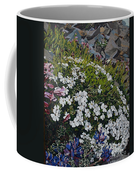 Landscape Coffee Mug featuring the mixed media The Last of Mt. Rainier by Leah Tomaino