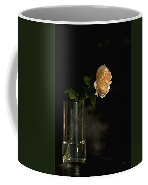 English Roses Coffee Mug featuring the photograph The Last Rose Of Summer by Theresa Tahara