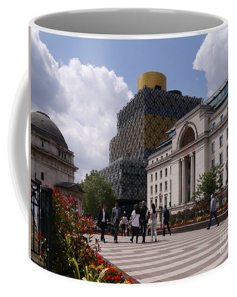 Library Coffee Mug featuring the photograph The Library Of Birmingham by John Chatterley