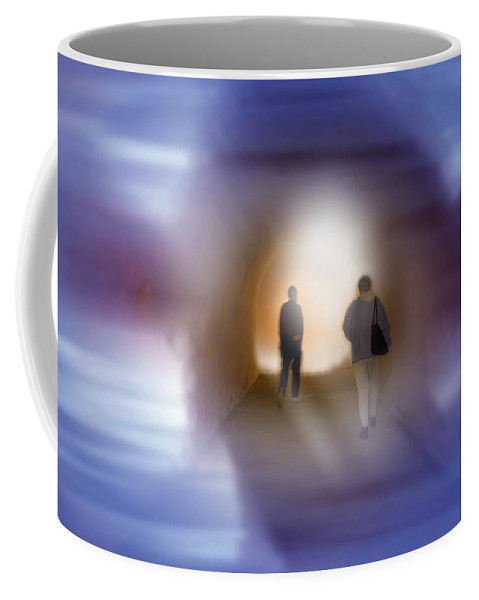 The Light Coffee Mug featuring the mixed media The Light by Bob Pardue
