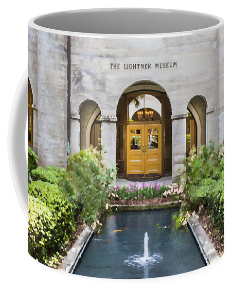 St. Augustine Coffee Mug featuring the photograph The Lightner Museum by Rich Franco