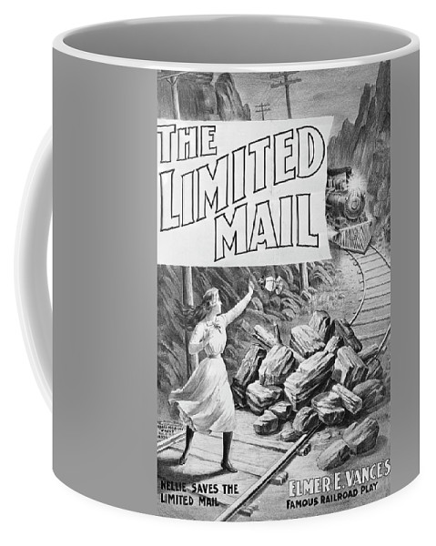 1899 Coffee Mug featuring the painting The Limited Mail, 1899 by Granger