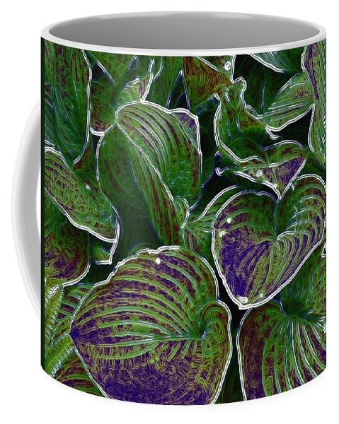 Creek Coffee Mug featuring the mixed media The Little Pond by Pepita Selles