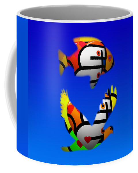 Love Coffee Mug featuring the painting The Lonely Sea Or The Sky by Charles Stuart