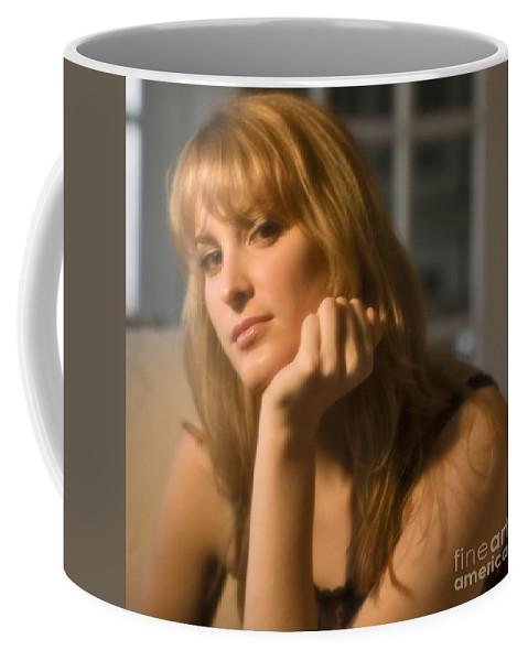 Portrait Coffee Mug featuring the photograph The Look 8 by Madeline Ellis
