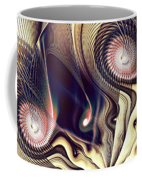 Malakhova Coffee Mug featuring the digital art The Look by Anastasiya Malakhova