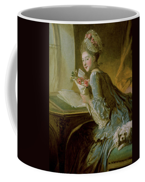 Fragonard Coffee Mug featuring the painting The Love Letter by Jean Honore Fragonard