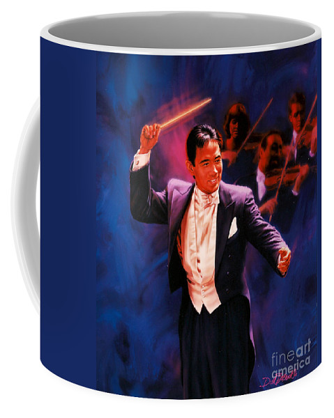 Portrait Coffee Mug featuring the painting The Maestro by Dick Bobnick