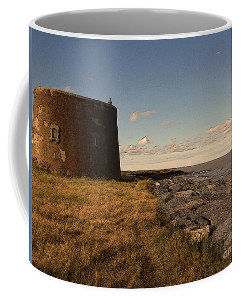 Martello Tower Coffee Mug featuring the digital art The Martello Tower by Chris R Kitchener