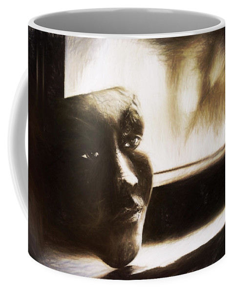 Window Coffee Mug featuring the photograph The Mask Sketch by Scott Norris