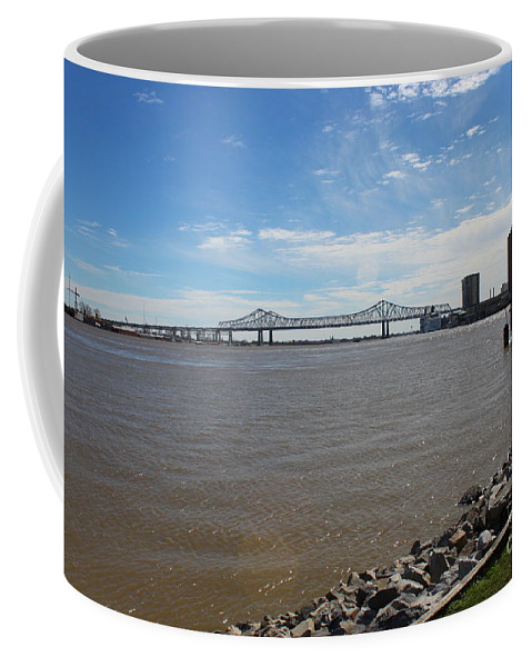 Mighty Mississippi River Coffee Mug featuring the photograph The Mighty Mississippi by Bev Conover