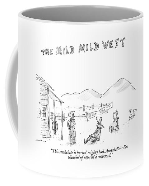 The Mild Mild West. A Cowboy In A Western Setting Coffee Mug for ...