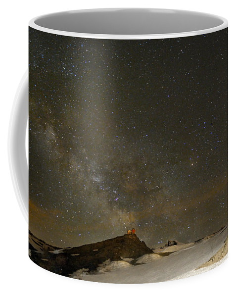 Milky Way Coffee Mug featuring the photograph the Milky Way Sagittarius and Antares over the Sierra Nevada National Park by Guido Montanes Castillo