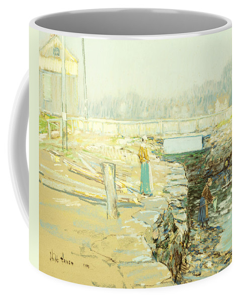 Agricultural; Agriculture; Peasants Coffee Mug featuring the painting The Mill Dam Cos Cob by Childe Hassam