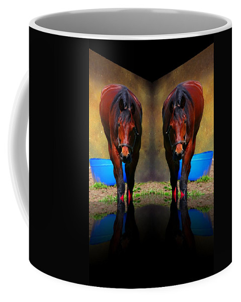 Animal Coffee Mug featuring the photograph The Mirror by Davandra Cribbie