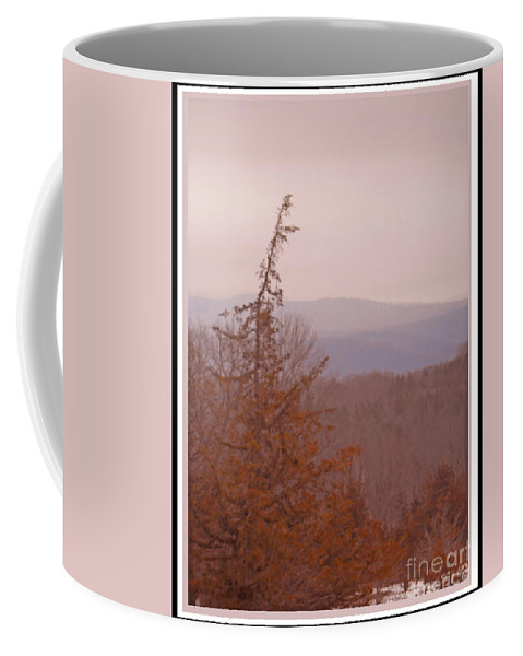 Catskill Mountains Coffee Mug featuring the photograph The Misty Mountains On A Misty Day by Patricia Keller