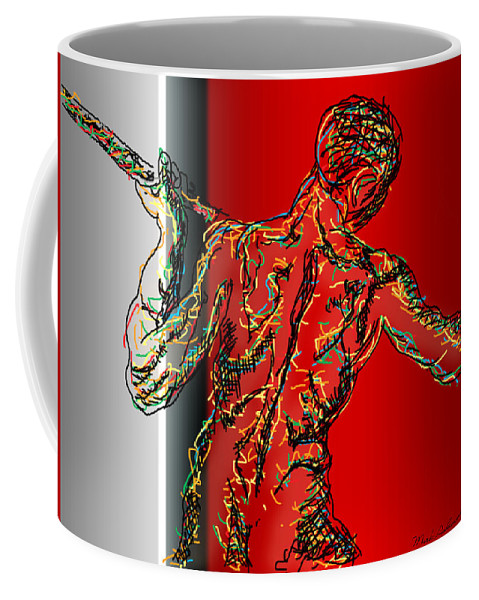 Male Nude Coffee Mug featuring the photograph The Modern Man 2 by Mark Ashkenazi