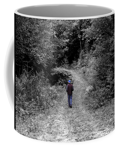 Black And White Coffee Mug featuring the photograph The Most Colorful Thing by Mim White
